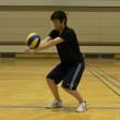 ボールを正しい位置でとらえる練習