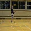 オープンスパイクと同じ要領で、ネットスレスレにボールを打ち込む